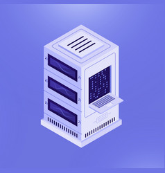 Network server computer template vector