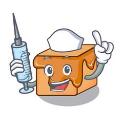 nurse caramel candies character cartoon vector image