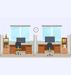 office interior with workstation vector image