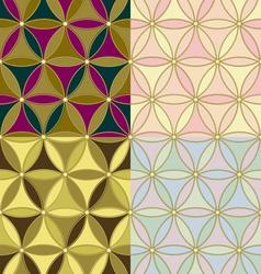 Pattern of hexagons vector