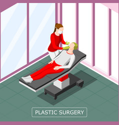 plastic surgery isometric background vector image