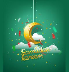 Ramadan kareem islamic holiday vector
