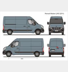 Renault master l2h2 cargo bus 2011 vector