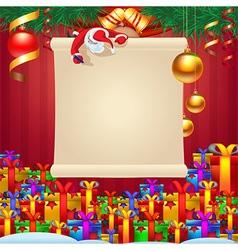 Santa wrote greetings vector