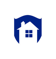 save home logo - house with window and chimney on vector image