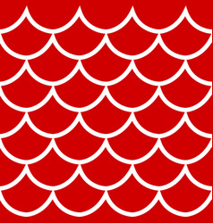 Seamless pattern on red background vector