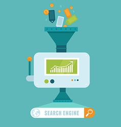 search engine concept in flat style vector image