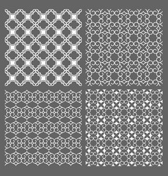 Set of four seamless patterns in arabic style vector