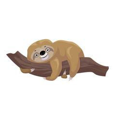Sloth kid icon cartoon style vector