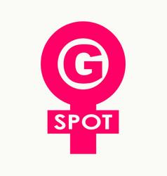 Spot-g text symbol vector