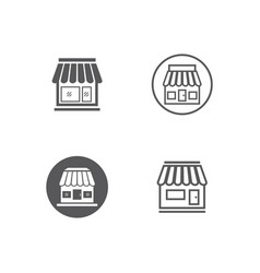 store icon template vector image