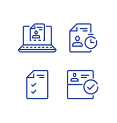 Submit document online distant service vector