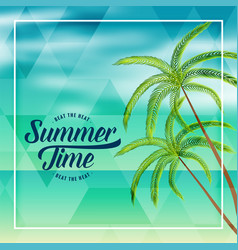 summer time beach holiday lovely background vector image