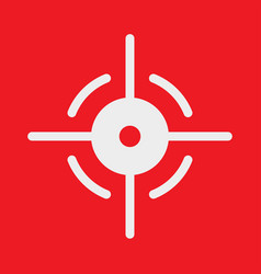 Target icon in shape with a red background vector