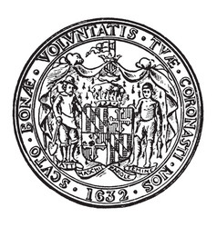 The great seal of the state of maryland vintage vector
