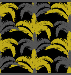 tropical seamless pattern with bushes in three vector image