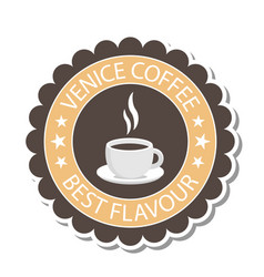 Venice coffee best flavour coffee cup circle backg vector