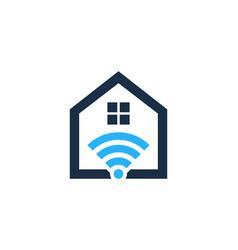 Wifi house logo icon design vector