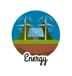 Windpower and energy solar to care environment vector