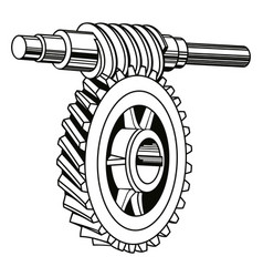 Worm gear mechanism vector