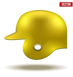 Yellow baseball helmet vector