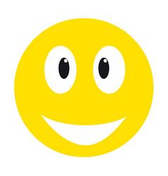 Yellow smiley face vector