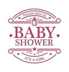 Baby Shower Girl Emblem vector image vector image