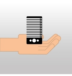 CPU tower pc data icon design graphic vector image