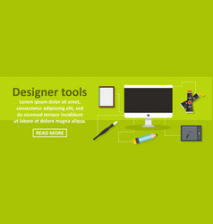 designer tools banner horizontal concept vector image vector image