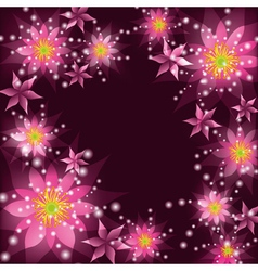 Floral background greeting card with flowers vector image