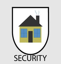 Secutity home icon vector image vector image