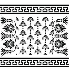 Traditional vintage Greek ornaments set vector image