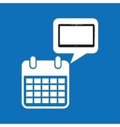 cloud device calendar date media apps graphic vector image