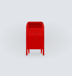 red postbox isolated gradient background vector image vector image