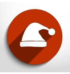 winter cap web flat icon vector image