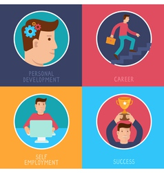 business success concepts in flat style vector image