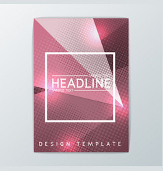 abstract brochure background design templa vector image vector image