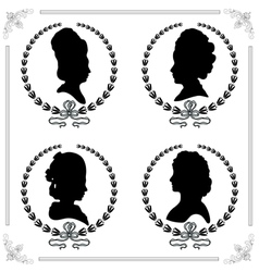 Cameo set vector image vector image