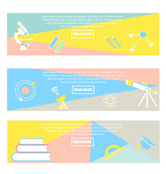 Collection of colorful banners back to school vector