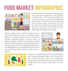 Food market infographics supermarket vector image