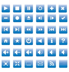 square media buttons vector image