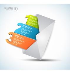 1 2 3 postcard menu vector