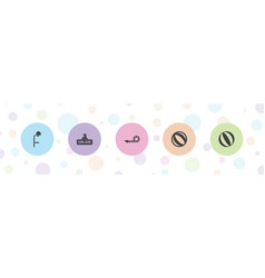 5 blow icons vector