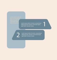 5 steps of modern arrow infografics template for vector