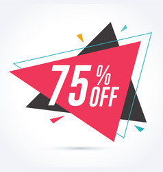 75 percent off discount and sale promotion banner vector image