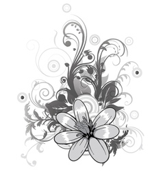 abstract flower with circles vector image