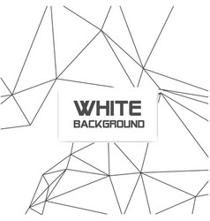 abstract polygonal triangle white background vector image