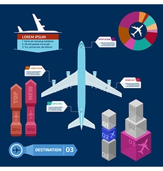 Airplane infographics vector