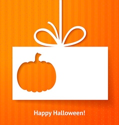 Applique card or background with pumpkin vector image