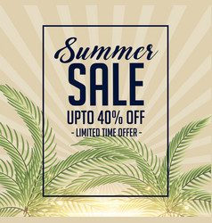 awesome summer sale background design vector image